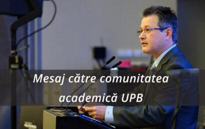 Măsuri privind desfășurarea în condiții optime a procesului de învățământ în Universitatea POLITEHNICA din București